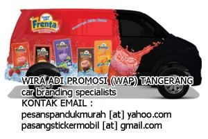pasang sticker mobil branding full body apv