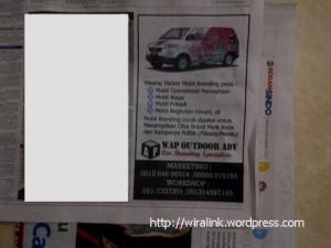 sticker mobil branding jakarta koran sindo