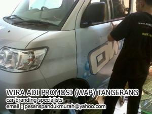 pasang sticker mobil branding luxio jakarta tangerang
